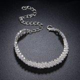 De zilver Geplateerde Armband van het Kristal van het Bergkristal van de Juwelen van de Vrouw van Juwelen Magnetische