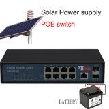 8 Poe van de haven de ZonneSchakelaar van het Netwerk 24V en 48V Auto Aanpassings10/100/1000Mbps