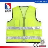 engranzamento 130g que adverte a veste elevada da segurança da visibilidade com as fitas reflexivas de cristal do PVC