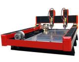 macchinario di pietra del router di CNC 3D con rotativo e due anni di garanzia per la pietra tombale dell'incisione, marmo, Bluestone