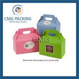 El papel de colores Mango Caja con ventana de PVC (CMG-PGB-034)