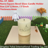4mmライト茶色のGlass Candle Holder