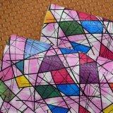Couro de sapata artificial do saco do falso do plutônio do Synthetic colorido do projeto da forma