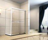 Acessórios do banheiro porta inoxidável larga do chuveiro do quadro de aço de 1500 milímetros com vidros de 8 milímetros