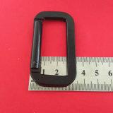 중국에 있는 정연한 Black Keychain Carabiner Clip Aluminum Snap Hook