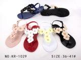 Madame Crystal Slipper Sandal Shoes de femmes de gelée de PVC