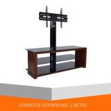 居間の家具の現代緩和されたガラスLED/LCD TVの立場