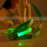 Nylon Webbing LED Flash Light Safety Decorative Dog Leash洗濯でき、Lightweight