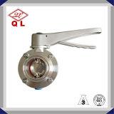 304/316L het sanitaire Roestvrij staal klemde Las Ingepaste Vleugelklep vast
