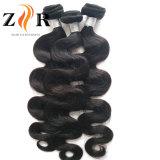 les cheveux humains de cheveu de Vierge de la pente 7A d'onde brésilienne de corps tissent
