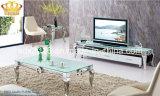 Mesa de centro moderna do vidro do aço inoxidável da sala de visitas