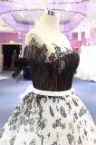 Noir outre des robes de bal d'étudiants de soirée de Ballgown d'organza d'épaule