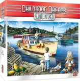 Kindheit träumt die glücklichen Tage das 1000 Stück-Puzzlen fischend