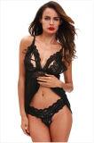 Gute Qualitätsrote Farbbandbowknot-Spitze-reizvolle Unterwäsche für Frauen