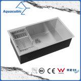 Dissipador quadrado do aço inoxidável da cozinha de um Cupc Aquacubic de 32 polegadas (ACS3218-A1F)