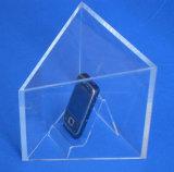 Suporte acrílico de /Acrylic do carrinho/carrinho de indicador cosmético acrílico