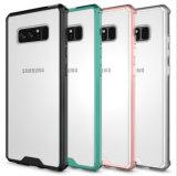 Nieuwe Acryl Hybride Mobiele Nota 8 van Samsung van het Geval van de Telefoon TPU AntiDaling Shock-Proof Transparant Geval