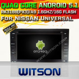 Witson Android 5.1 Car DVD GPS para Nissan Universal com Chipset 1080P 16g ROM WiFi 3G Internet DVR Support (A5589)