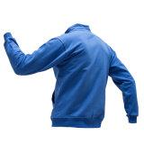 주문을 받아서 만들어진 남자는 Flannel 면 우연한 옥외 Hoody 스웨트 셔츠를 위로 지퍼로 잠근다