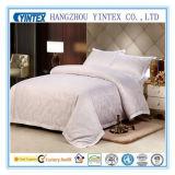 300TC 100% coton blanc Stripe Accueil Linge de lit queen