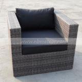 テラスの屋外の藤の家具の柳細工のソファーのセットされる一定の庭のホテル(MTC-105)