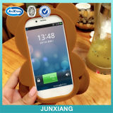 2015 Nueva caja linda del teléfono celular del silicón del oso para el iPhone 6