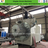 El tubo espiral de plástico de la producción de la máquina con el perfil de acero de refuerzo