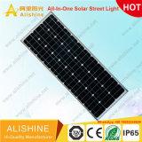 5W-120W Outdoor Luminaria intégré toutes dans une rue lumière solaire de jardin LED avec panneau solaire Mono 160 Lumen/watt