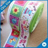 Kundenspezifisches Firmenzeichen-Polyester druckte der 6 Zoll-Satin-Farbband für Dekoration
