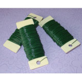 Fil de boisseau de fleuriste de métier ou fil de fer de PVC Caoted