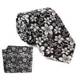 Cadeau floral en soie de luxe sur mesure Ensemble carré de poche de Hanky