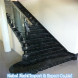 Hochwertiger Granit-Stein-absolute schwarze Granit-Jobstepps und Treppe