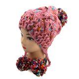 2016 estilos mais recentes Senhoras Pesado Lado Knit Hat Design Earflap