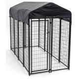 黒いカラー屋外犬の犬小屋のパネル