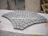 De grijze Witte Straatstenen van de Kubus van het Graniet