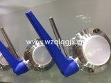 De uitstekende kwaliteit Vastgeklemde Sanitaire Vleugelklep van het Roestvrij staal DIN