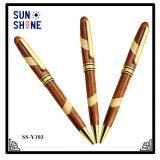 Hot Sale Logo promotionnel stylo plume bois graver au laser