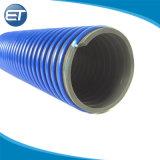 Tubo de PVC flexible de aspiración y descarga para el transporte del agua, aceite de polvos