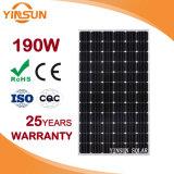 Panneau solaire monocristallin direct de la vente 190W d'usine pour solaire