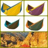 Hamac en nylon de parachute avec la courroie d'arbre et le Carabiners libre