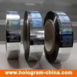 Sellado caliente de la hoja de la seguridad 3D del holograma colorido del laser