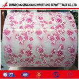 Motif de fleurs couché couleur PPGI de tôle en acier galvanisé prélaqué
