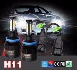 SelbstS2 8000lm 12V H11 schwarze LED Scheinwerfer-Birne H4
