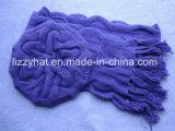 Form Chuncky Angora-Wolle-Barett/Hut und Schal gesetztes Fushia