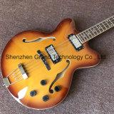 Гитара двойного джаза тела клена F-Отверстия верхнего полого электрическая басовая (JH-3)