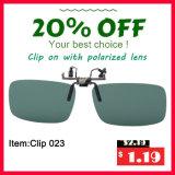 Clip polarizzata circolare sui vetri 3D
