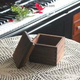 Ретро лакированного дерева прямоугольник подарочная упаковка для просмотра с помощью надеть крышку багажника