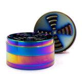 75mm 4 Camadas Rainbow Moedor de ervas com papel de embalagem