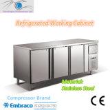 4 문 S/S 상업적인 강직한 부엌 저장 냉장고