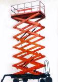 Plataforma de funcionamiento hidráulica de la tabla del trabajador de las tijeras